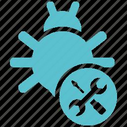 bug, fixing, seo, seo icons, seo pack, seo services icon