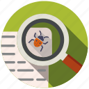bug, code, development, fixed, optimization, seo, website icon