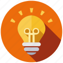 bulb, creative, design, idea, lamp, light, new icon