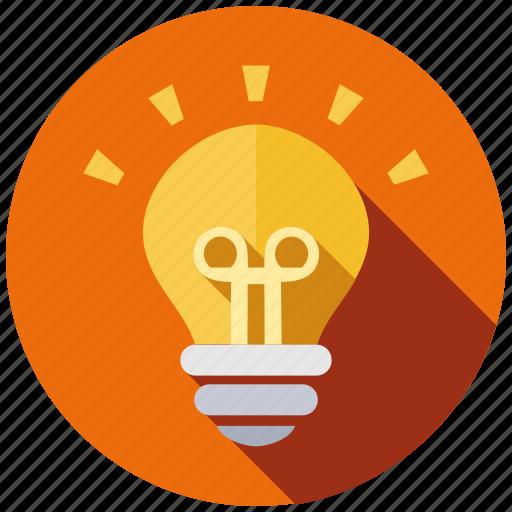 bulb, creative, design, idea, lamp, light, new icon