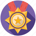 achievement, award, medal, prize, seo, star, winner icon