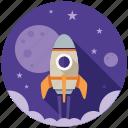 business, finance, financial, marketing, rocket, seo, startup icon