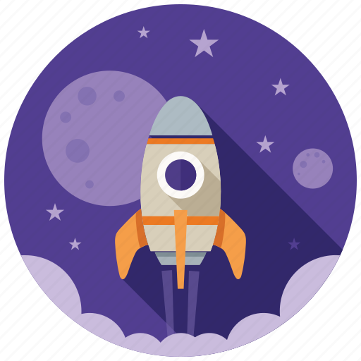 business, finance, financial, marketing, rocket, seo, startup icon