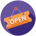 ecommerce, marketing, open, seo, shop, shopping, store icon