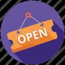 ecommerce, marketing, open, seo, shop, shopping, store icon