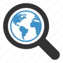 earth, flag, globe, magnifying, search, seo, world icon