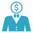 bussinessman, male, man, marketing, optimization, search, seo icon