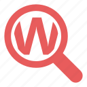 keyword, magnifying, marketing, search, seo, web, zoom icon