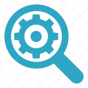 magnifier, magnifying, marketing, search, seo, settings, zoom icon