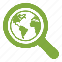 magnifier, magnifying, marketing, search, seo, world, zoom icon