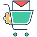 email, email notification, optimization, search engine, seo marketing, shopping market icon
