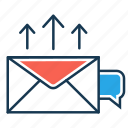 email, email marketing, like, marketing, notification, send mail, seo icon