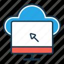 click, cloud storage, cloud upload, computer, optimization, search engine, seo icon