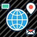 communication, internet, search engine, seo marketing, social media, web browser icon