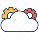 cloud computing, cloud settings, cloud storage, optimization, search engine, seo icon