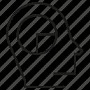 head, idea, mind, pie chart