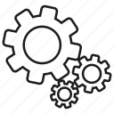 cog, gear, logic icon