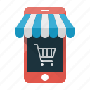 ecommerce, mobale shop, mobile, online, shop, shopping, smartphone icon