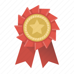 award, badge, best, rank, rank badge, star, trophy icon