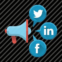 advertising, communication, marketing, media, social, social media, social networks icon