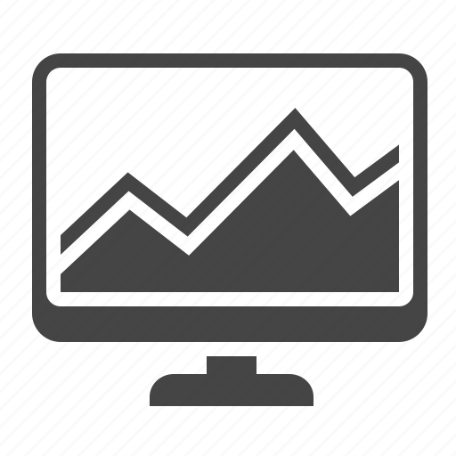 computer, monitoring, report, statistics icon