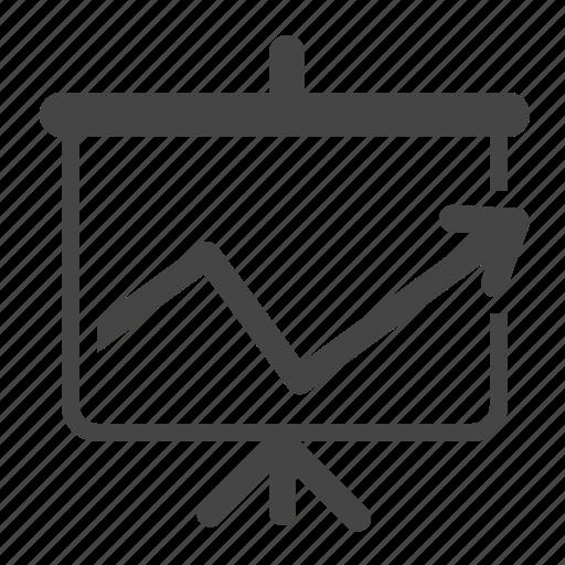 analytics, blackboard, charts, diagram, presentation, sales report, statistics icon