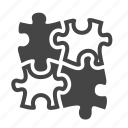 problem solution, puzzle, strategy, teamwork icon
