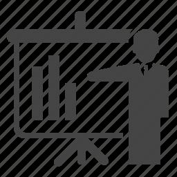 analysis, analytics, graph, powerpoint, presentation, report, statistics icon