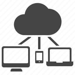 cloud computing, computer, connection, devices, network, share, storage icon