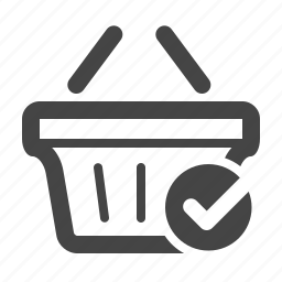 bag, cart, checkmark, complete, ecommerce, shop, shopping bag icon