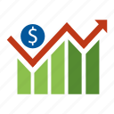 analytics, finance, financial, graph, management, money, seo icon