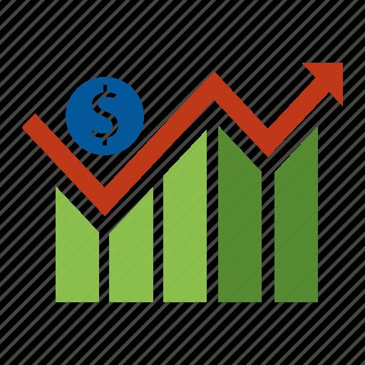 analytics, finance, financial, graph, management, money, seo icon