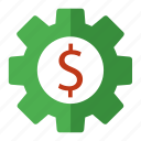 business, dollar, money, options, payment, seo, settings icon