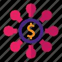 budget, business, diagram, marketing, money, organization, seo icon