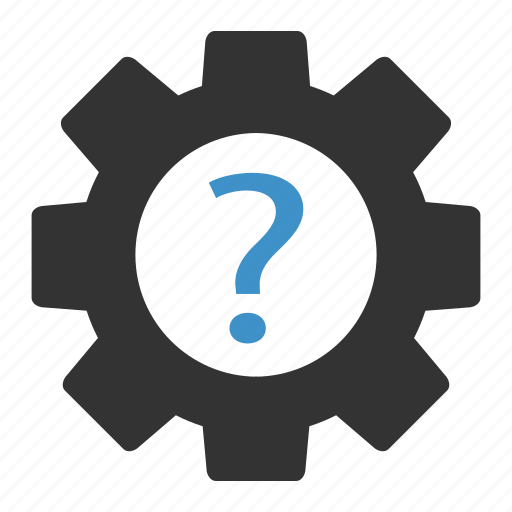 question, settings icon