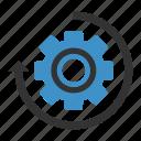 history, settings icon