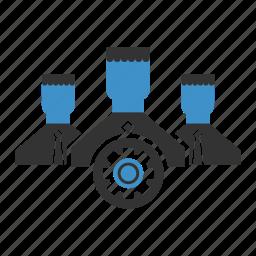 settings, teamwork icon