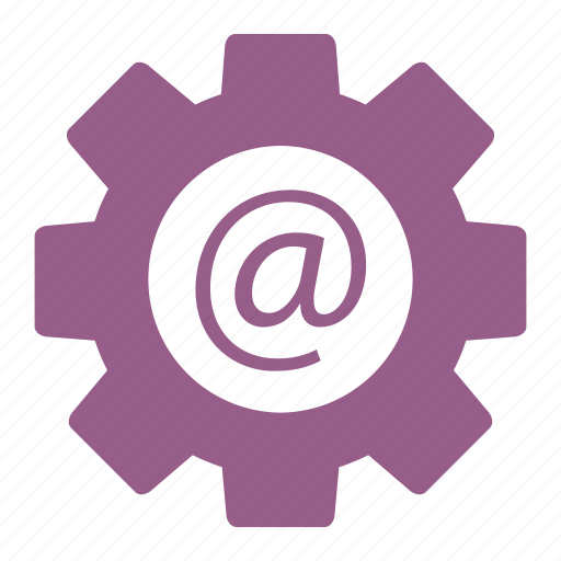 communication, envelope, gear, mail, options, seo, settings icon