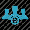 business, online, options, seo, settings, teamwork, web icon