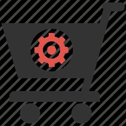 basket, mobile marketing, seo icons, seo pack, seo services, settings, web design icon