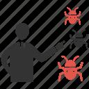 bug, mobile marketing, seo, seo pack, seo services, web design icon