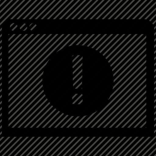 error, page icon