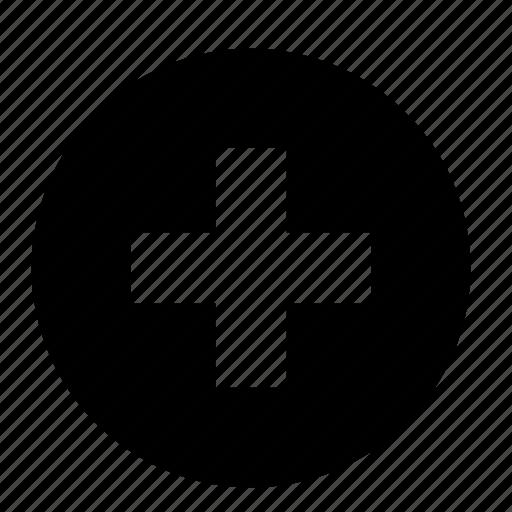 add, circle, cross, mathematics, maths, plus, zoom icon