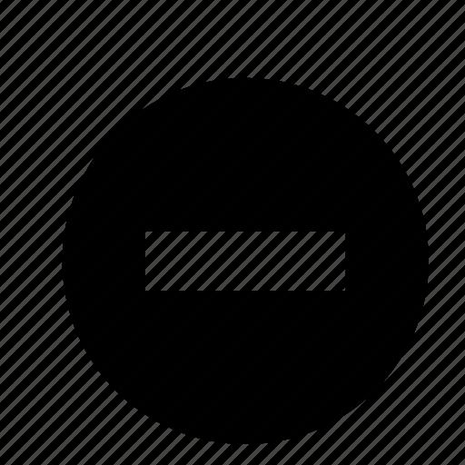 cancel, circle, close, delete, minus, remove, zoom icon
