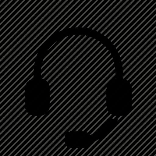 headphone, headphones, headset, microphone icon