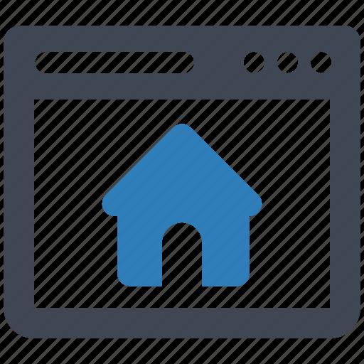 home, page, web icon