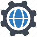 global, internet, settings icon