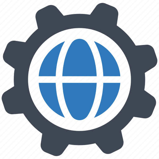 global, internet, settings icon