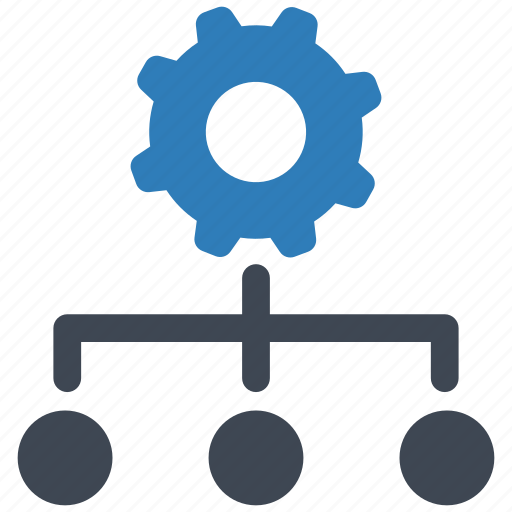 hierarchy, management, settings icon