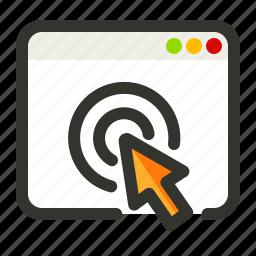 click, pay, pay per, ppc icon